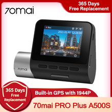 Global Version 70mai Dash Cam Pro Plus A500S Wifi Built-in GPS 1944P Recorder Car Dvr