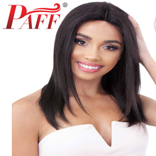 цена на PAFF 16 Inch Straight Hair Lace Front Wig Synthetic Wigs For Women Short Cosplay Wig Natural Color Synthetic Lace Front Wig