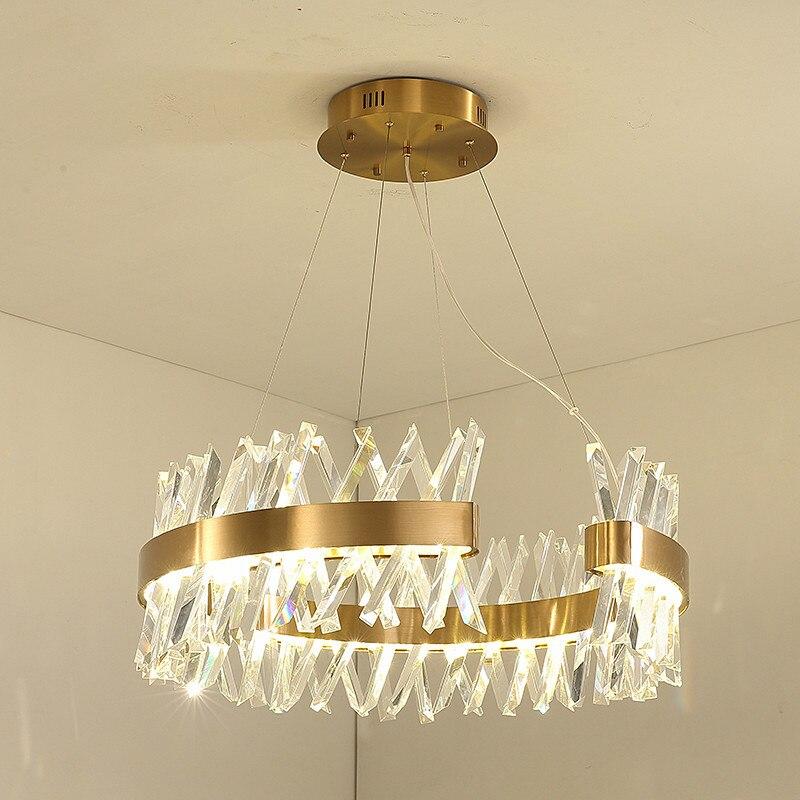 42 Off Moderne Salle A Manger Dimmable Pendentif Led Lampe Lustre K9 Cristal Suspension Lampe Or Metal Suspension Lampe Goutte Lumiere Pour Salon