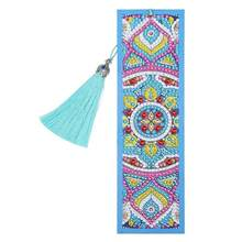 Bookmark High-quality Portable Delicate Bright DIY Special Shaped Diamond Painting Leather Creative Tassel Book Marks(China)