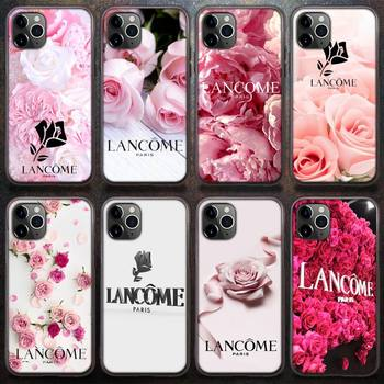 French Cosmetics Lancome Pink Phone Case For IPhone 8 7 6 6S Plus X 5S SE 2020 XR 11 12 Pro Mini Pro XS MAX image