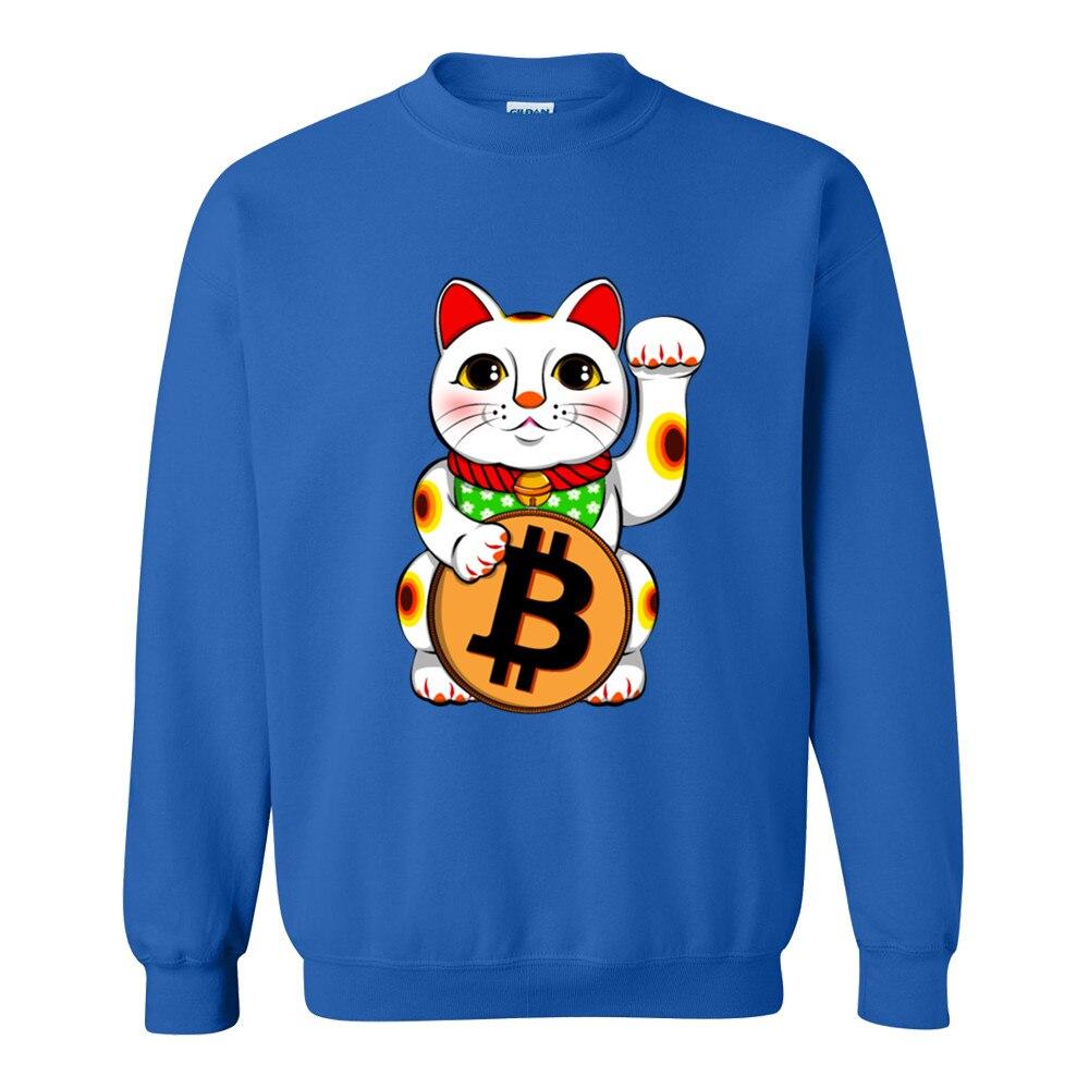 2018 Hoodies Bitcoin Lucky  Maneki Neko mens Black Cotton Fashion Sweatshirt men Autumn Casual Anime men Hoodies XXS-2XL 4
