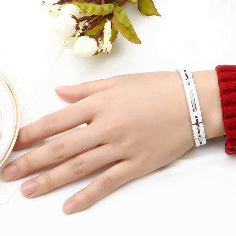 Женский браслет из керамики со стразами, черный, белый браслет шириной 8 мм, с звеньями для часов