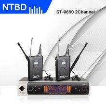 NTBD сцены хип-хоп звук вещания шоу Свадьба ST-9850 профессиональный беспроводной в уши монитор системы большой экран