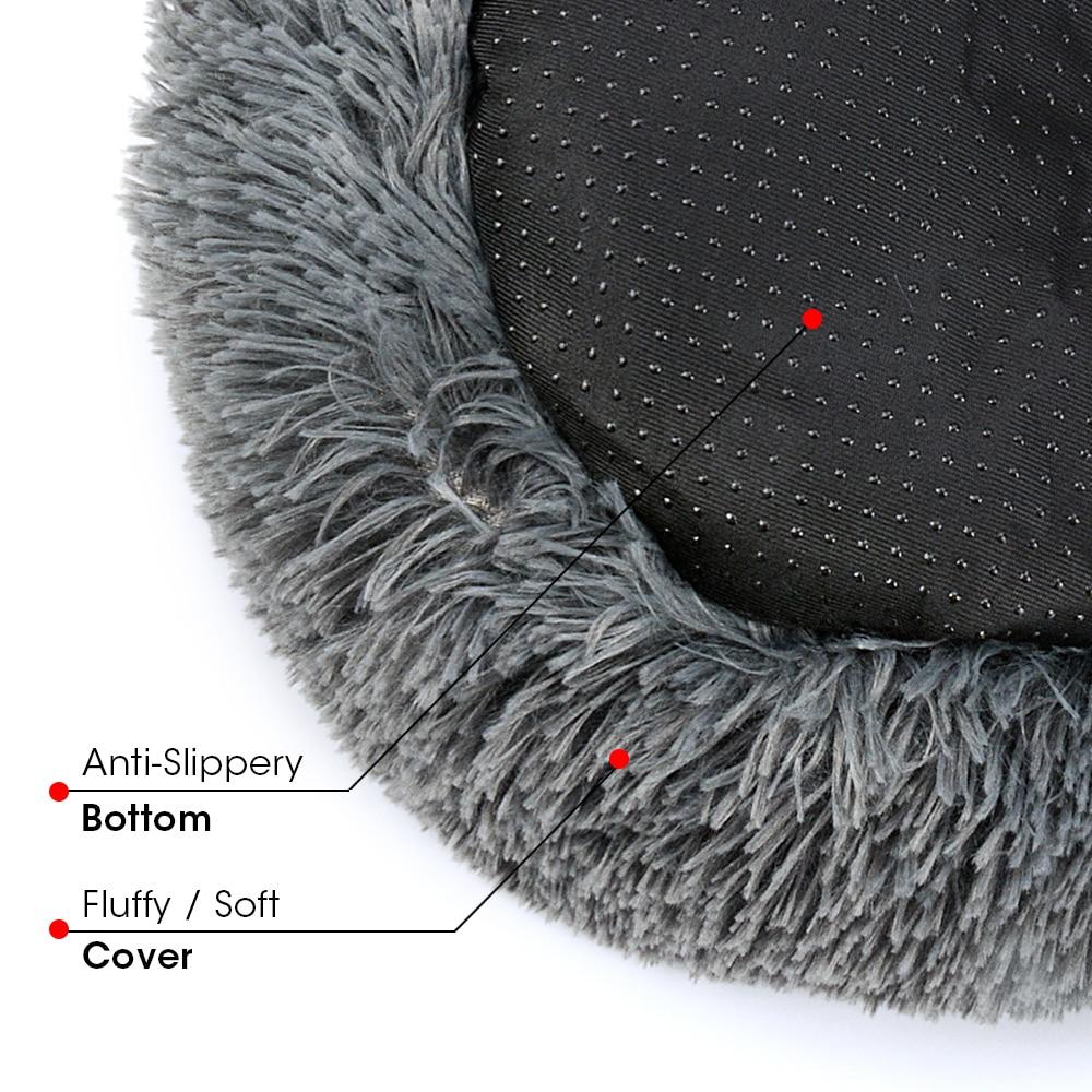 úCloseout DealsHouse Cat Mat Nest Bed Pet-Cushion Pets-Supplies Dog-Basket Round Warm Soft Long-Plush