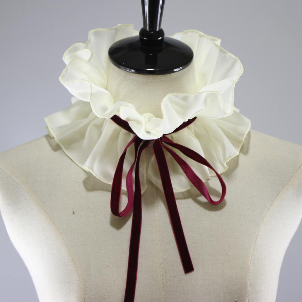 Small Chiffon Scarf Court Decoration Dickie Japan And Korea Detachable Fake Collar New Free Shipping Shirt Women
