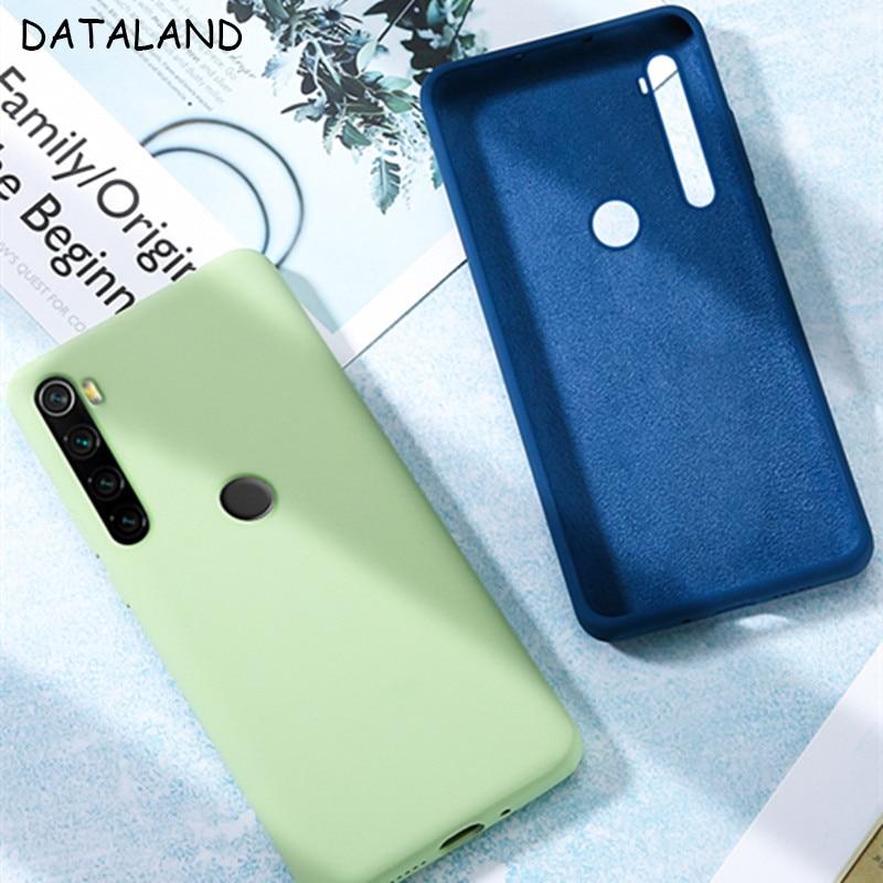 For Xiaomi Redmi Note 8 Pro Case Bumper Shockproof Liquid Soft Silicone Back Cover For Redmi Note 8 7 Pro Note8T 8 T Phone Coque