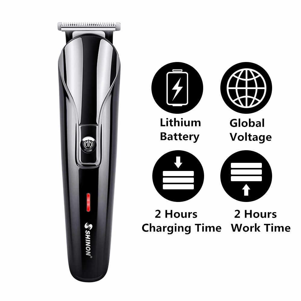 Erkekler için profesyonel elektrikli saç kesme makinesi 6 1 çok fonksiyonlu saç kesici makinesi şarj edilebilir saç düzeltici sakal burun kulakları