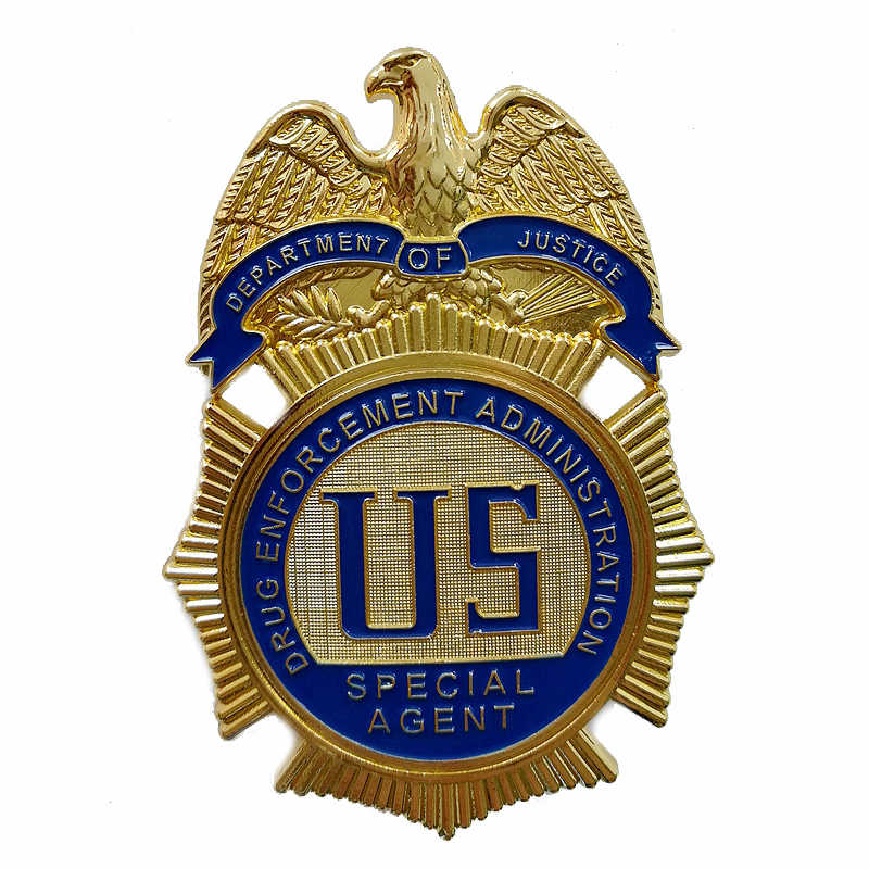 DEPARTMENT OF JUSTICE DRUG ENFORCEMENT ADMINSTRATION ตัวแทนพิเศษ/DEA Badge,Replica Prop ภาพยนตร์ Pin Badg