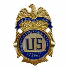 Специальный агент отдела юстиции по правоприменению лекарств/значок DEA, копия Фильма Prop Pin Badg