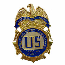 DEPARTMENT OF JUSTICE DRUG ENFORCEMENT ADMINSTRATION SPECIAL AGENT / DEA Badge,Replica Movie Prop Pin Badg(China)