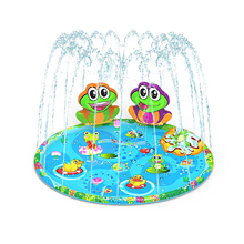 Frog Inflatable Spray Water Cushion Summer Kids Play Water Mat Lawn Games Pad Sprinkler Play Toys Outdoor Tub Swiming Pool Toy