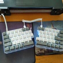 62 tuşlar makro bölünmüş mekanik klavye programlanabilir LED elektrik yarışması oyun PC Laptop Mac WIN 7 8 10 OUTEMU anahtarları