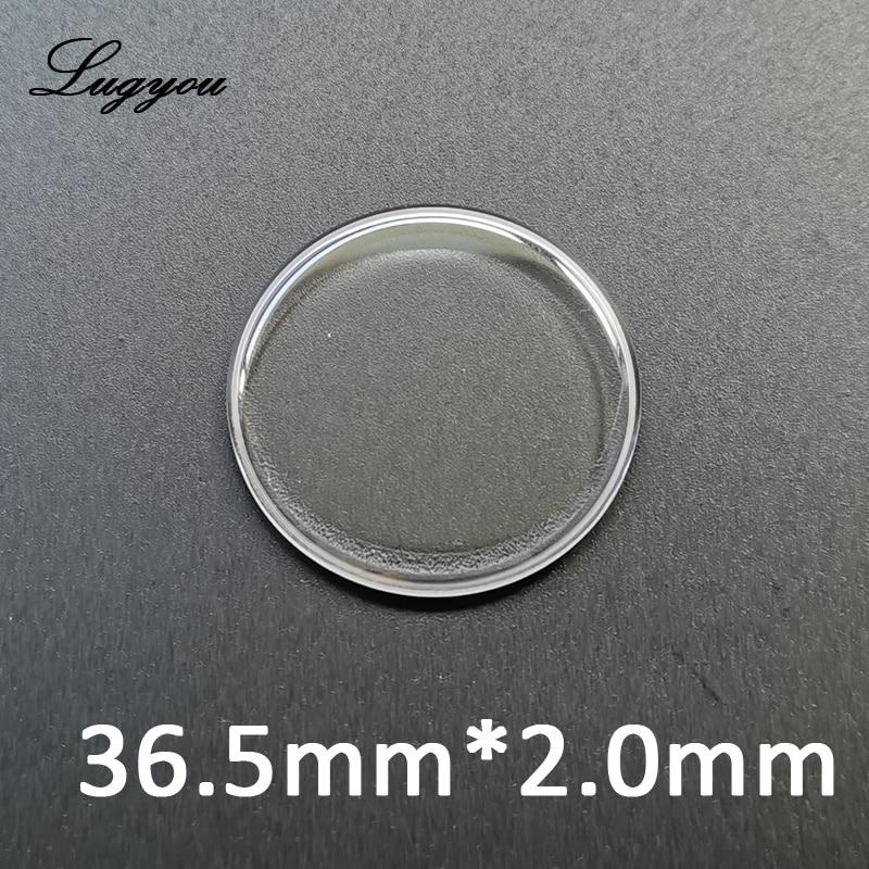 Lugyou Martin Espessura Dupla Abobadada Safira Cristal Diâmetro 36.5mm Bolha Côncava Vidro Antiscratch San 3.5mm