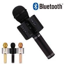 WS858 Bluetooth microphone Handheld WirelessUSB professional condenser Karaoke Player Speaker Record Music KTV studio recording цена 2017