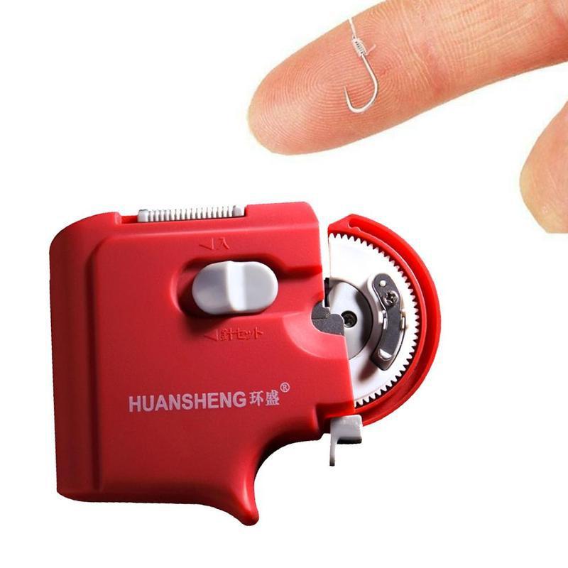 Автоматический Электрический рыболовный крючок ярусная машина рыболовный галстук быстрые рыболовные крючки линия завязывание открытый фитнес-снаряжение рыболовные аксессуары - Цвет: Red