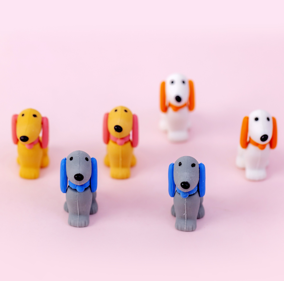 2pcs Dog Puppy Rubber Pencil Eraser Stationary School Supplies Items Kawaii Office Creative Cartoon Kids Gift Students Prizes
