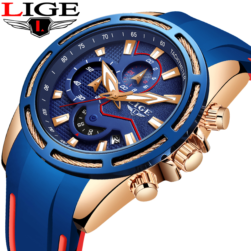 Image 5 - LIGE Fashion Mens Watches Top Brand Luxury Multi function dial Sports Watch Men Date Waterproof Quartz Clock Relogio Masculino-in Quartz Watches from Watches