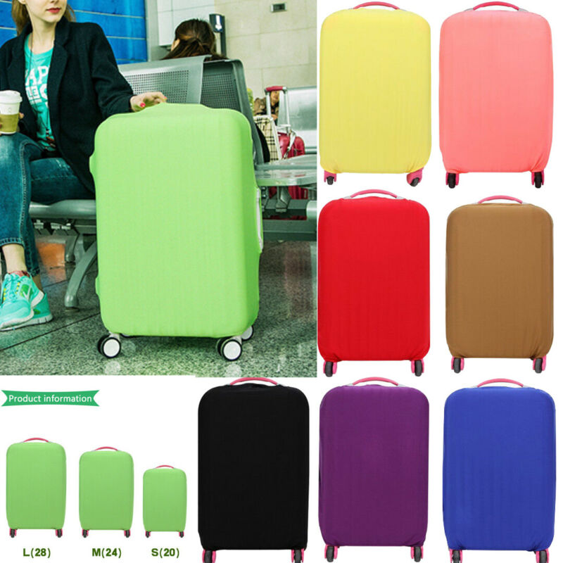New Solid Color Luggage Protective Cover Elasticized Fabric Suitcase Protection Dust Case For 18 To 30 Inches Travel Accessories