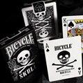 Bicicleta luxo crânio jogando cartas poker tamanho baralho cartões mágicos close-up palco truques mágicos adereços