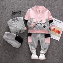 Новая детская одежда на весну-осень с персонажами из мультфильмов для мальчиков Повседневное хлопковая футболка с коротким рукавом, одежда, штаны 2 шт./компл. Одежда для маленьких детей комплект одежды для детей, спортивный костюм