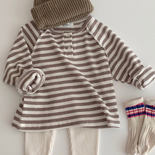 MILANCEL  baby clothes striped infant boys blouse brief toddler girls base shirt long sleeve baby tops