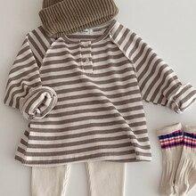 Baby Blouse Base-Shirt Long-Sleeve Toddler Infant Striped MILANCEL Tops Brief Girls Boys