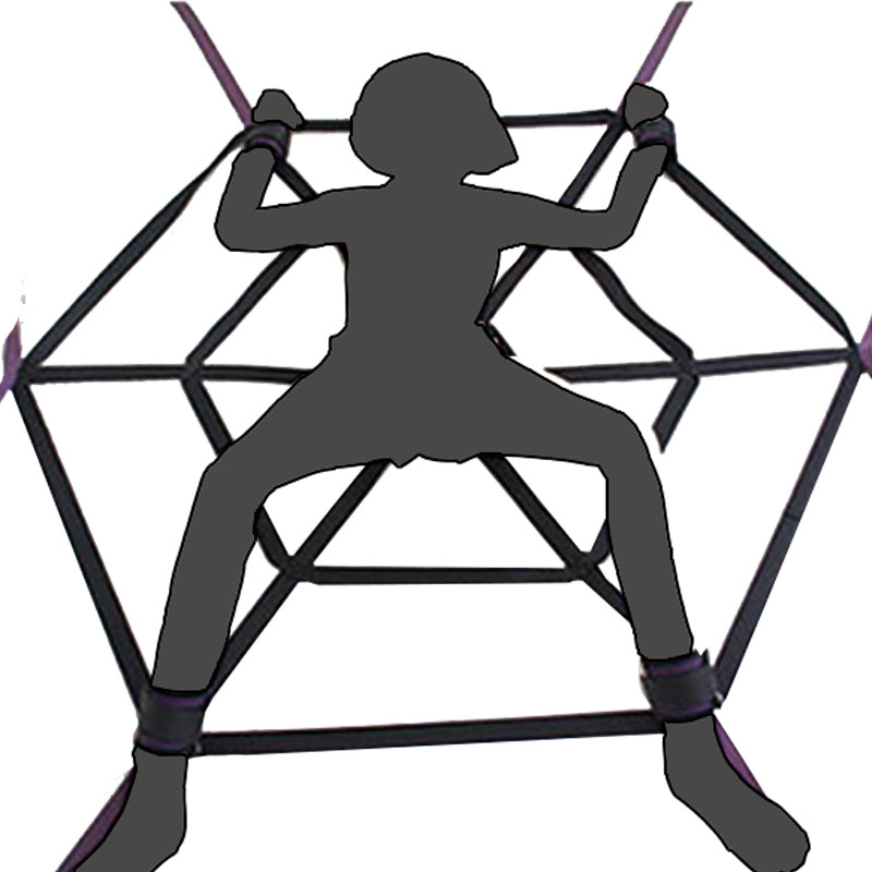 BDSM bondage Sex Toys Detachable Spider web structure soft Material restraints Sex slave Fetish Adult couple sex games
