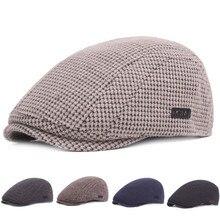 Модный крутой мужской берет бини джентльмен британский стиль шерстяной фетровый берет шапка сохраняет тепло зимний мягкий однотонный плоский берет шапки