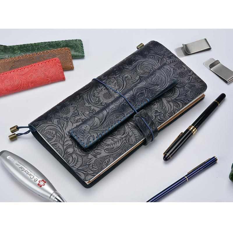 Творческая ручка чехол подлинный кожаный пенал с ретро-стиль кожа дикой лошади из воловьей кожи Карандаш Чехол