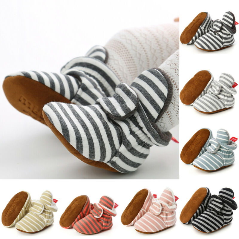 NEW 2020 Toddler Newborn Cartoon Soft Crib Sole Baby Kids Girls Boy Prewalker Shoes 0-18M