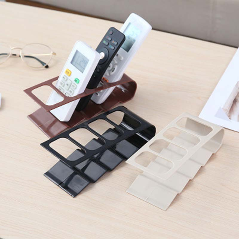 4 Grids <font><b>Remote</b></font> Controller Storage <font><b>Rack</b></font> Home Device <font><b>Remote</b></font> Control Holder Shelf Cell Phone Stand Desktop Organizer 1PC image