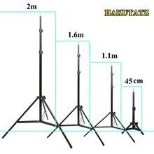 45 センチメートル 1.1 メートル 1.6 メートル 2 メートルの写真撮影の三脚の光がフォトスタジオrelfectorソフトボックスラメ背景ビデオ照明スタジオキット