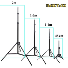 45cm 1.1m 1.6m 2m Photography Tripod Light Stand For Photo Studio Relfector Softbox Lame Background Video Lighting Studio Kits