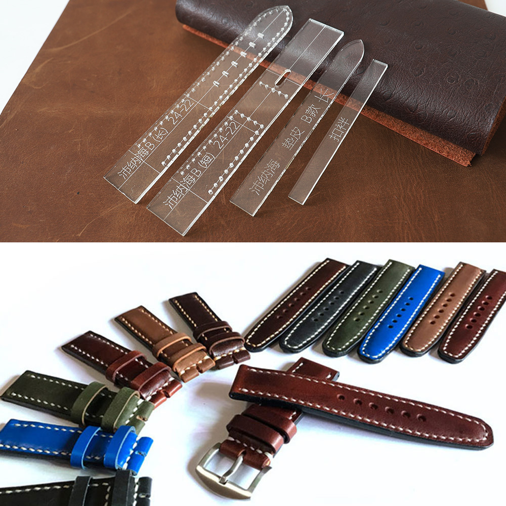 Transparent Acrylic Watch Strap Band Stencil Template DIY Leather Craft Tool Home DIY Supplies Wrist Watchband Mold For Men
