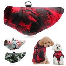 Ropa de invierno para perros cálida chaqueta grande para perros ropa para perros abrigo para mascota bulldog francés ropa chaleco para Pitbull Golden Retriever