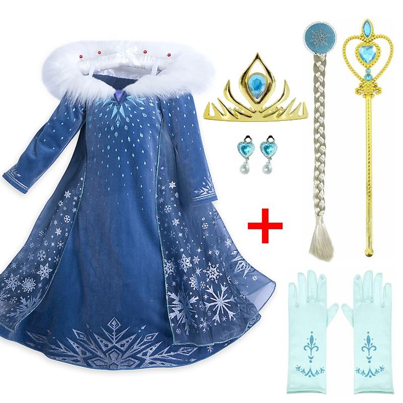 Us 448 20 Offqueen Crown Set Frozen Anna Elsa Dress Party Cosplay Clothing Princess Elsa Dress Kids Dresses Birthday Christmas Dress In Dresses
