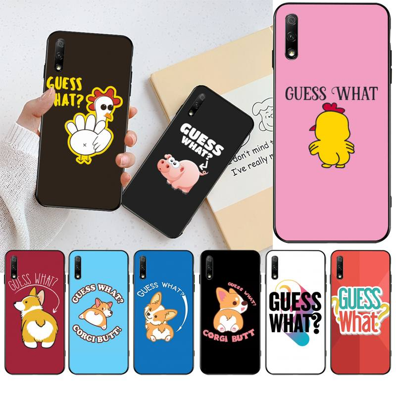 CUTEWANAN Guess what animal Newly Arrived Black Cell Phone Case for Huawei Honor 30 20 10 9 8 8x 8c v30 Lite view pro image