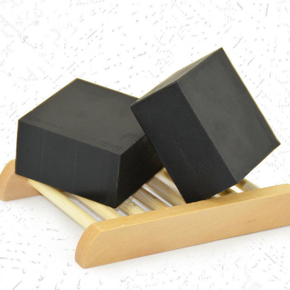 100g Bamboo Charcoal Blackhead Remover Anti-Acne Skin Whitening Cleaning Soap Handmade Whitening Soap Skin Lightening Soap