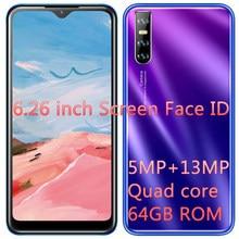 Telefones celulares j5 4g ram 64g rom face id original quad core 6.26 android android android desbloqueado smartphones tela gota de água celulares telefone