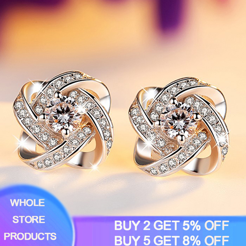 Wholesale Fashion Jewelry Crystal Heart International Certification Amethyst Real 925 Sterling Silver Stud Earrings YS03