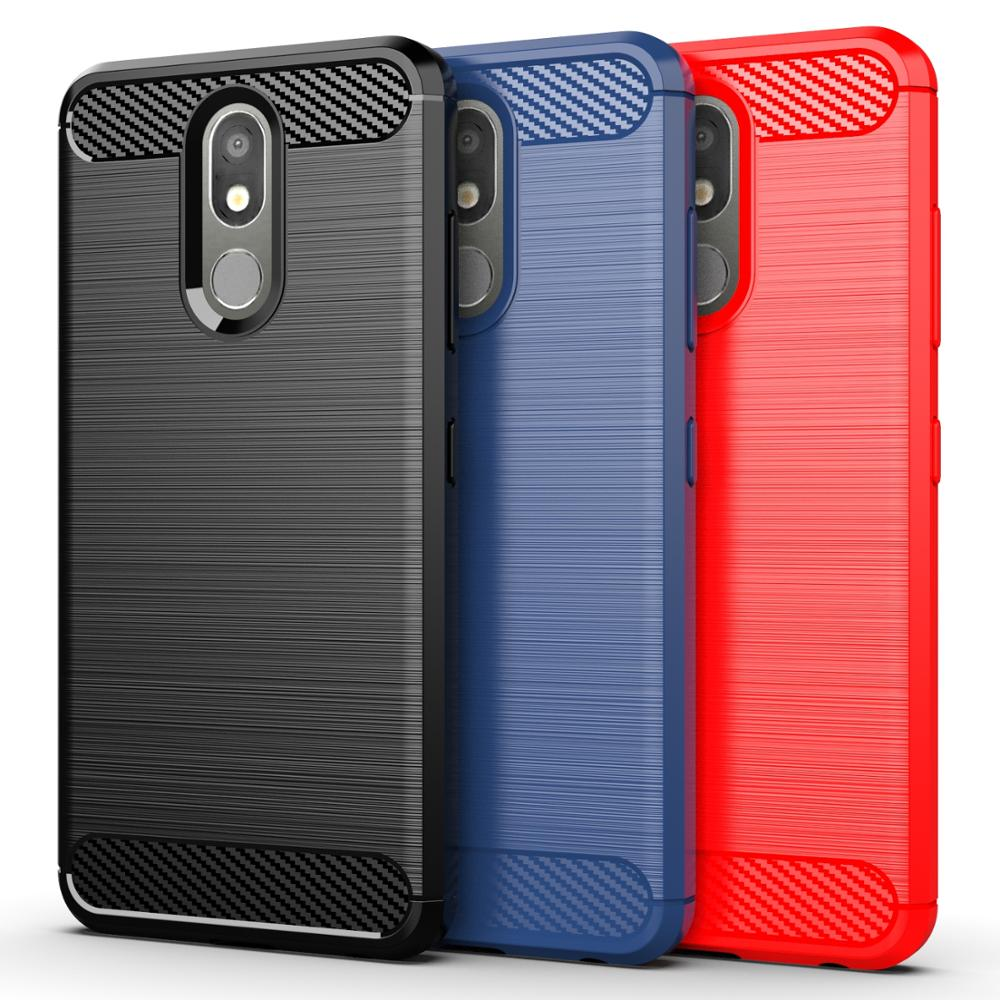 Carbon Fiber Brushed Soft Mobile Phone Case For LG G6 G7 G8S Thinq PLUS X5 Q9 One G8X V50S K40 K12 X4 K20 2019 Solo LTE Q70 Q6