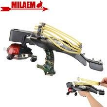 1 juego Multi función de Tiro con Arco pesca Honda láser pescar dardos pescado rueda pulsera catapulta accesorios caza