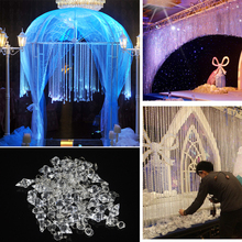 30pcs 12cm Wedding Decoration Crystals Acrylic Octagonal Beads String Prisms Garland Chandelier Hanging Curtain Christmas Decor
