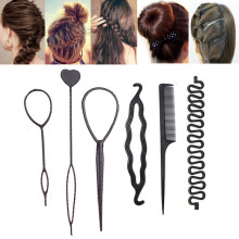 Hairpins Styling Tools Foam Sponge Braiding Hair Disk Twist Comb Curlers Barrette Magic Donut Bun Maker DIY Hair Accessories