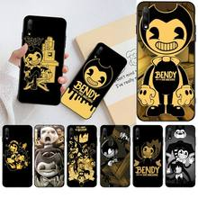 HPCHCJHM Bendy and the ink machine Soft Silicone Black Phone Case for Huawei Honor 30 20 10 9 8 8x 8c v30 Lite view pro hpchcjhm caravaggio the soul and the blood phone case cover shell for huawei honor 30 20 10 9 8 8x 8c v30 lite view pro