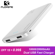 FLOVEME 10000mAh Power Bank For Xiaomi mi8 Portable Charger