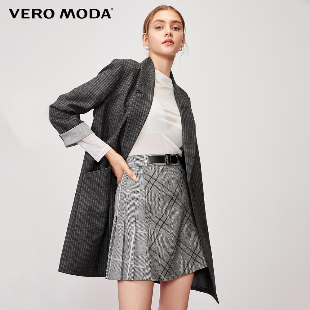 Vero Moda Women's Mid-length Striped Lapel 3/4 Sleeves Blazer | 320108538