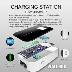 Image 3 - Elektrikli araç şarjı evreli Wallbox Wifi elektrikli araç şarj istasyonu uygulaması ile tip 2 soket 32A 1 fazlı IEC 62196 2 audi BMW için