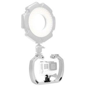 Image 4 - الغوص تحت الماء يده عمل حامل كاميرا مزدوجة الذراع صينية دعم استقرار حامل قفص Selfie Monopod جبل ل GoPro